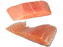 Fresh Athlantic Salmon Fillets, Skin on/off, PBO, Canada @ 7.65-9.25/lb range *prices change weekly*