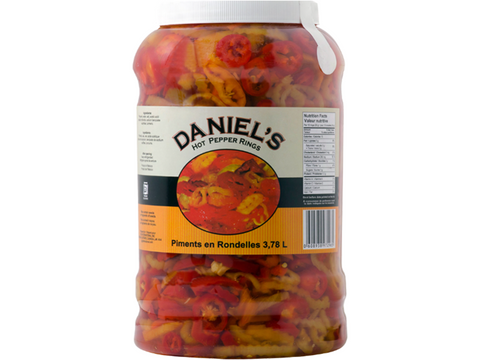 Daniel`s Hot Peppers Rings 4 x 3Kg p/cs