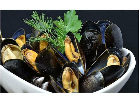 Mussels, Jumbo, Whole, Vacpacked, Canada, 20 lbs