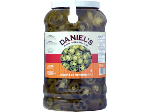Daniel`s Sliced Green Jalapeno 4 x 3Kg p/cs