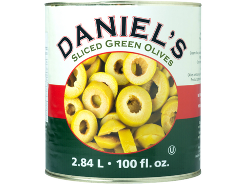Copy of Daniel`s Sliced Green Olives 6 x 2.5Kg p/cs