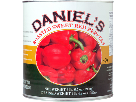 Daniel`s Roasted Red Peppers Whole 6 x 2.5Kg p/cs