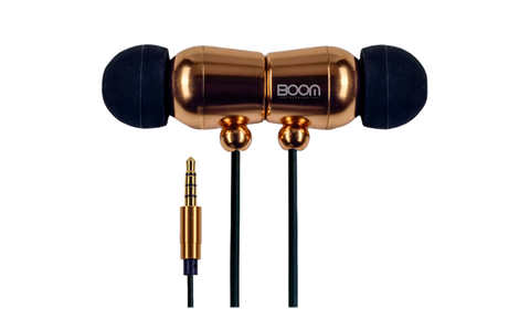 Boom Earwear BEOne In Ear Noise Cancelling Headphones With Mic - Gold Edition