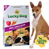 Lucky Dog® Treats Classic Clovers Filler-Free Fruit & Veggie Recipe with Flaxseed, Sweet Potato, Pumpkin, Apples, Carrots, Parsley, and Cinnamon (12 oz. box)