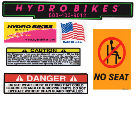 Decal Replacements - Hydrobikes