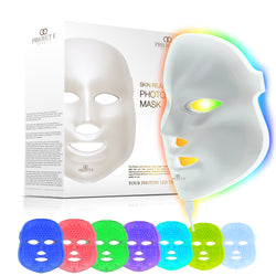 Project E Beauty LED Photon Therapy 7 Color Light Treatment Skin Rejuvenation Whitening Anti-aging, Smooth wrinkle and fine lines Facial Beauty Daily Skin Care Mask
