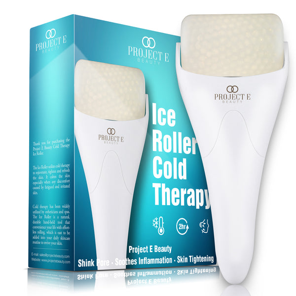 Project E Beauty Ice Roller Massager for Face Eye Body Massage Under Eye Puffiness Brightening Cooling Therapy Cool Roller Skin Tightening Skin Care Reduce Wrinkles Dark Circles Muscle Soreness Pain Relief Redness - project-e-beauty