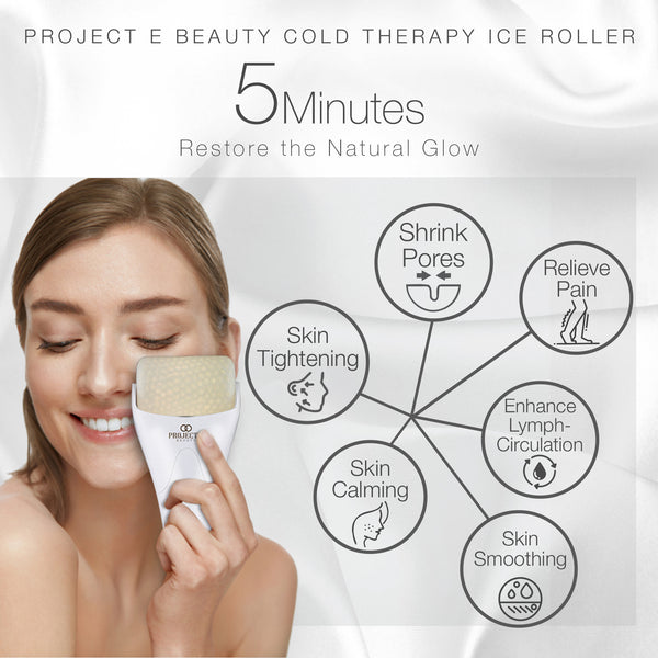 Ice Roller Massager for Face Eye Body Massage Cooling Therapy Cool Roller Skin Tightening Reduce Wrinkles Under Eye Puffiness Dark Circles
