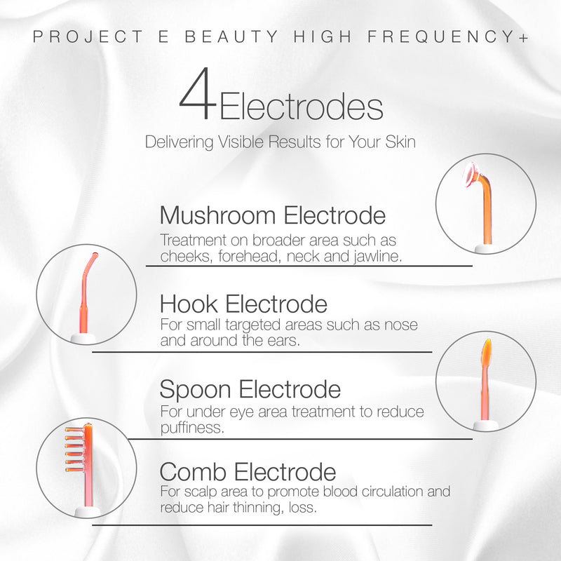 D'arsonval High Frequency Wand Neon | Neon Gas Orange Red Skin Care Tightening Acne Spot Wrinkles Fine Lines Removal Remover Face Lifting Puffy Eyes Beauty Therapy Facial Treatment Portable Device - project-e-beauty