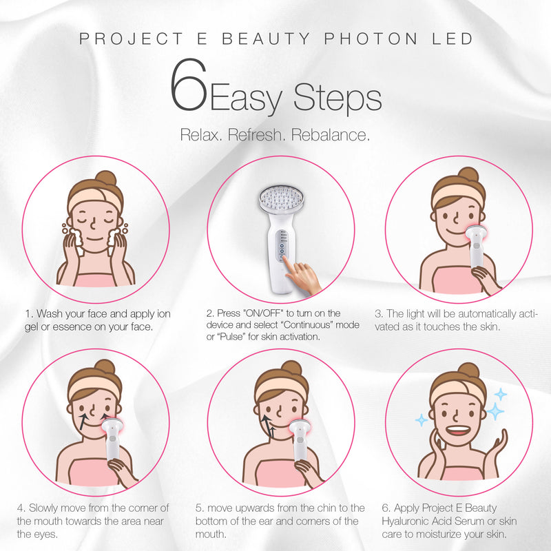 RED LED+ Anti-Aging Therapy | 630nm Red Light LED Light Therapy Collagen Boost Skin Care Firming Lifting Skin Tightening Smooth Wrinkles Fine Line Removal Light Control Sensor Facial Beauty Device - project-e-beauty