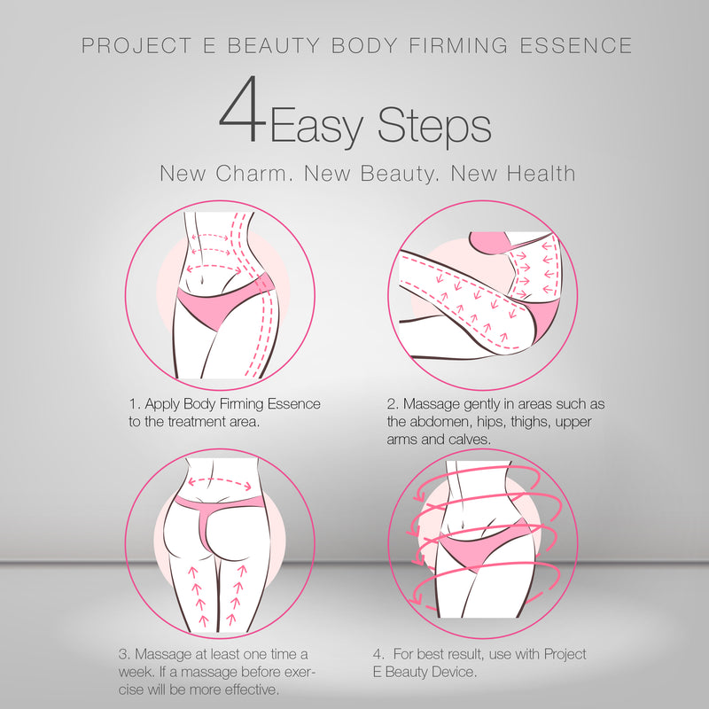Project E Beauty Body Firming Treatment Slimming Essence | Natural Organic Cellulite Slimming Skin Firming Fat Burning Body Shaping Sculpting Weight Losing Massage for Waist, Abdomen & Buttocks Cream Gel Treatment 50ml 1.7oz - project-e-beauty