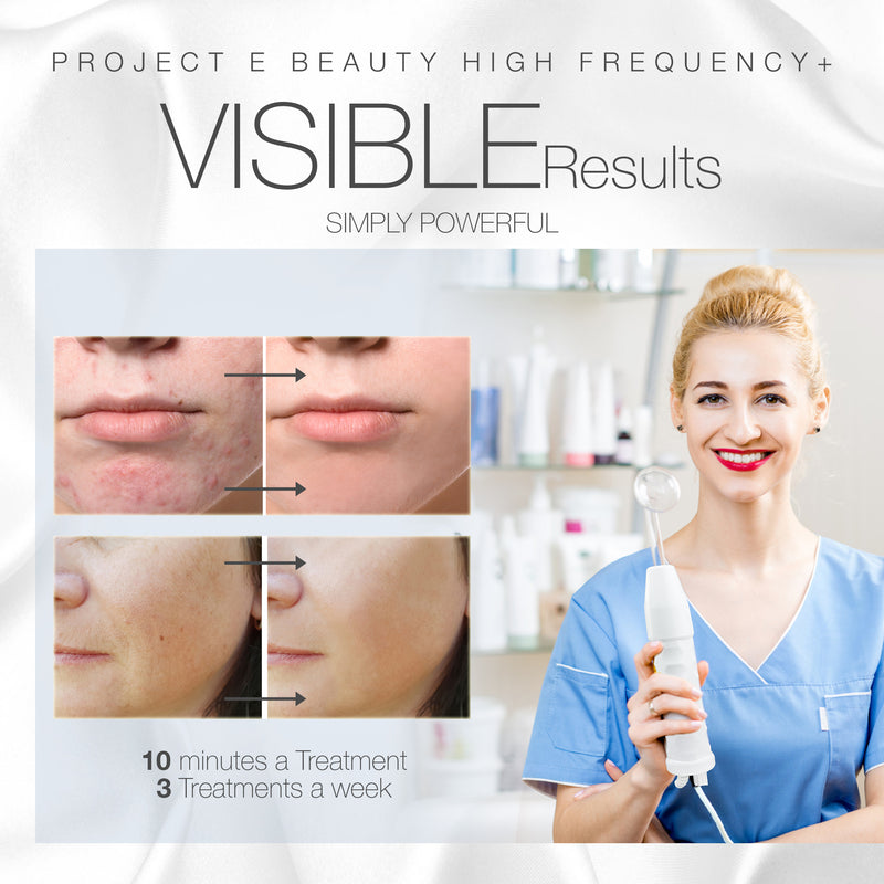Project E Beauty Portable High Frequency D'arsonval Skin Tightening Acne Spot Wrinkles Remover Puffy Eyes Beauty Therapy Device - Neon Gas - project-e-beauty