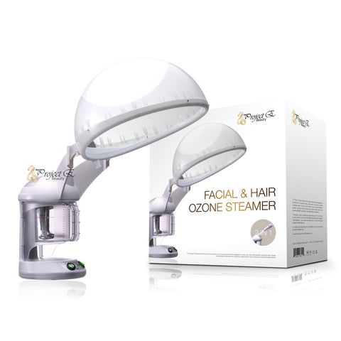 2 in 1  Facial + Hair Steamer with O3 Ozone Steamer Device Home or Salon Use