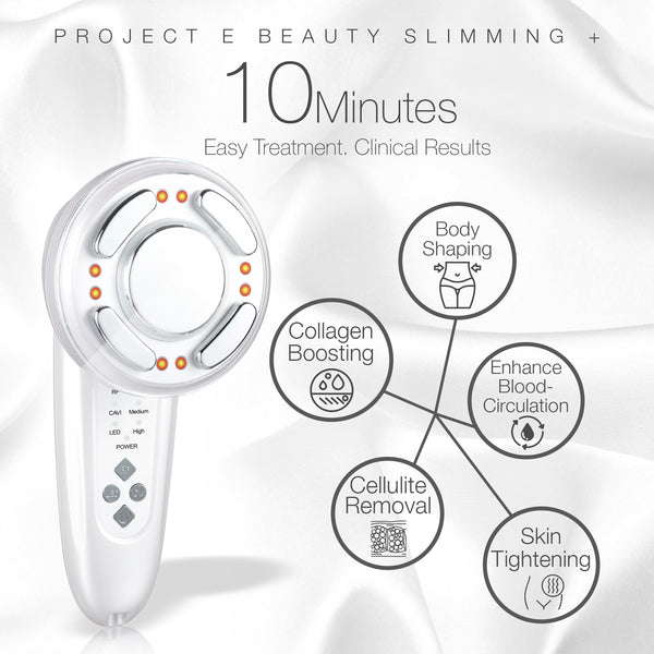 LED+ Radio Frequency Ultrasonic Slimming Therapy | Wireless RF Red LED Photon Cavitation Ultrasound Collagen Boosting Smooth Skin Firming Tightening Cellulite Fat Removal Body Shaping Slimming Device