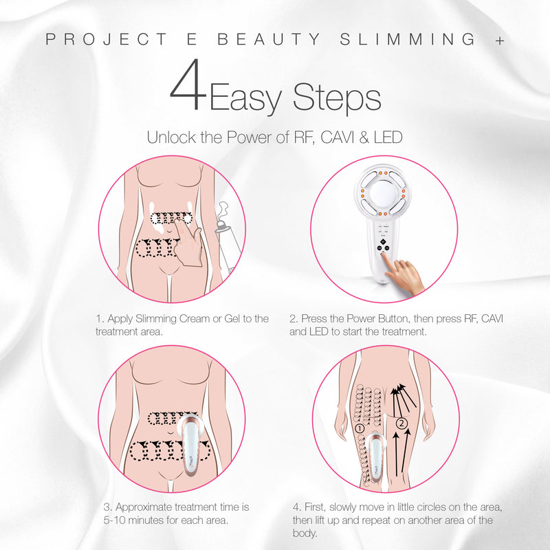 LED+ Radio Frequency Ultrasonic Slimming Therapy | Wireless RF Red LED Photon Cavitation Ultrasound Collagen Boosting Smooth Skin Firming Tightening Cellulite Fat Removal Body Shaping Slimming Device - project-e-beauty