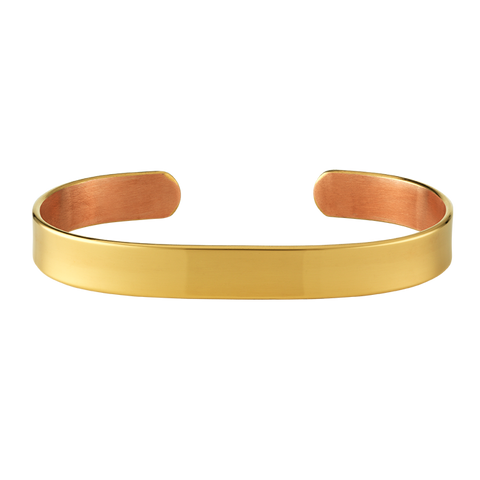 10mm Gold Copper Bangle