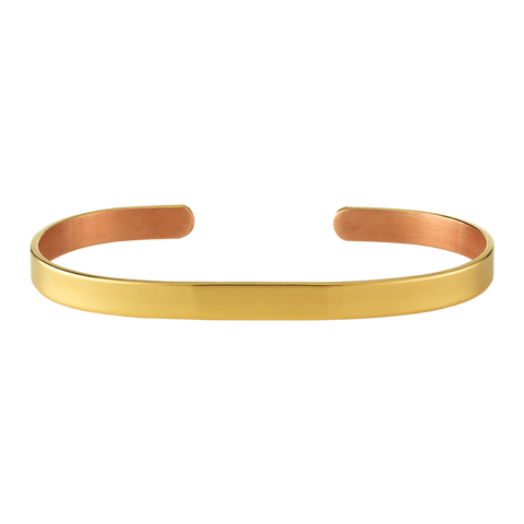 6mm Gold Copper Bangle