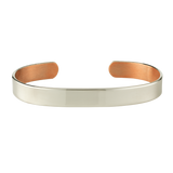 10mm Silver Copper Bangle