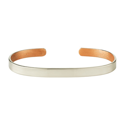 6mm Silver Copper Bangle