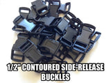 "1/2"" Contoured Side-Release Paracord Buckles"