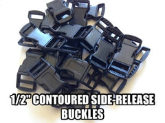 1/2 Contoured Side-Release Paracord Buckles by Stockstill Outdoor Supply