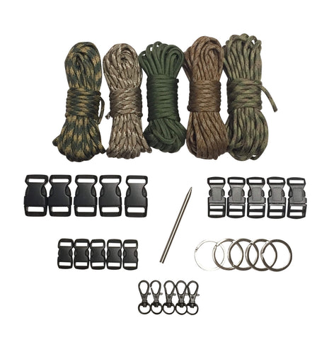 100 ft Camo Combo Paracord Kit XXL by Stockstill Outdoor Supply