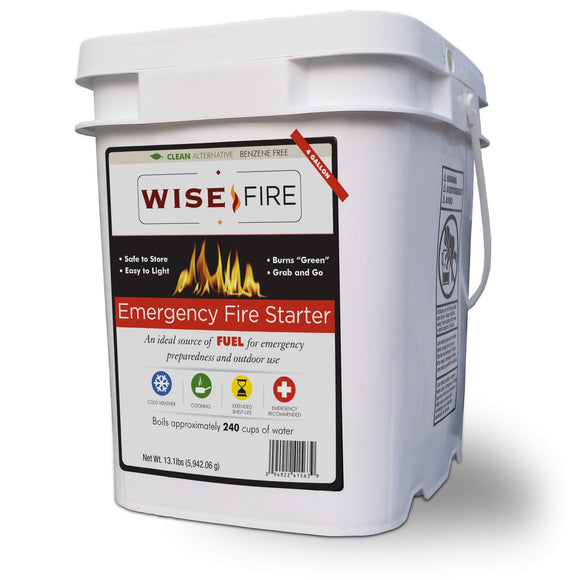 4 Gallon Bucket of Wise Emergency Survival Fire Starter by Stockstill Outdoor Supply