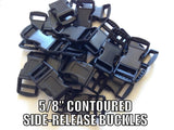 "5/8"" Contoured Side-Release Paracord Buckles"