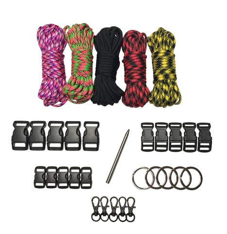 100 ft Base Black Paracord Kit XXL by Stockstill Outdoor Supply