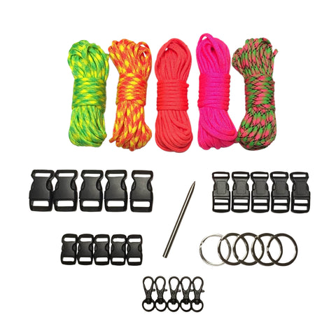 100 ft Bold & Bright Paracord Kit XXL by Stockstill Outdoor Supply
