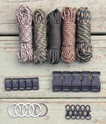 100 ft Camo Combo Paracord Kit XL by Stockstill Outdoor Supply