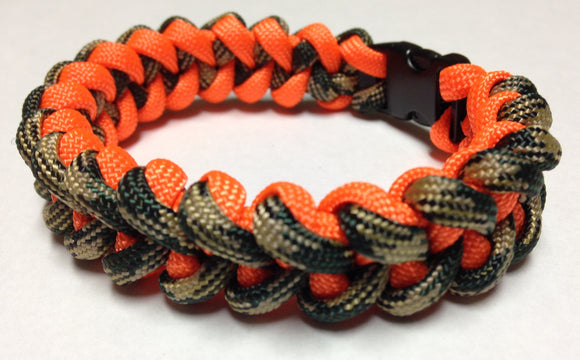 Camo & Hunter Orange Paracord Bracelet