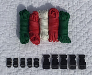 100 ft Christmas Combo Paracord Kit by Stockstill Outdoor Supply