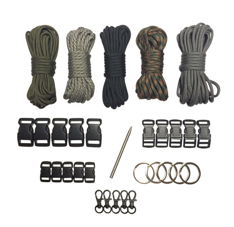 100 ft Dark Night Paracord Kit XXL by Stockstill Outdoor Supply