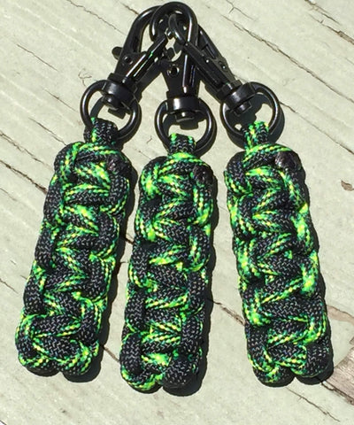 Custom Paracord Zipper Pulls - Decay w/Black Swivel Hooks by Stockstill Outdoor
