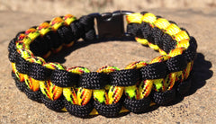 Explode & Black Paracord Bracelet by Stockstill Outdoor