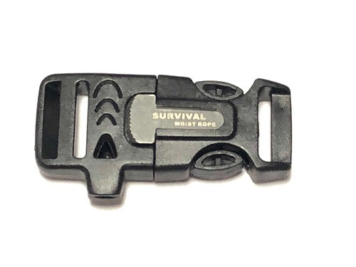 "3/4"" Flint Firesteel Whistle Paracord Buckles for Paracord Bracelets by Stockstill Outdoor Supply"