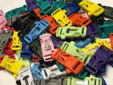 "3/4"" Firesteel Paracord Buckles Multicolored Neon & Pastel by Stockstill Outdoor Supply"