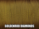 Goldenrod Diamonds Type III 550 Paracord by Stockstill Outdoor Supply
