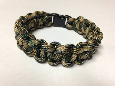Paracord Bracelet - Camo Cobra Weave by Stockstill Outdoor