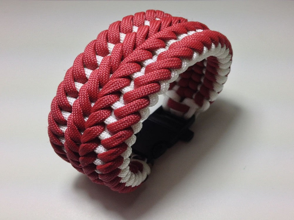 2- Color Wide Modified Sanctified Custom-Made Paracord Bracelet by Opossum's Paracord - Stockstill Outdoor Supply
