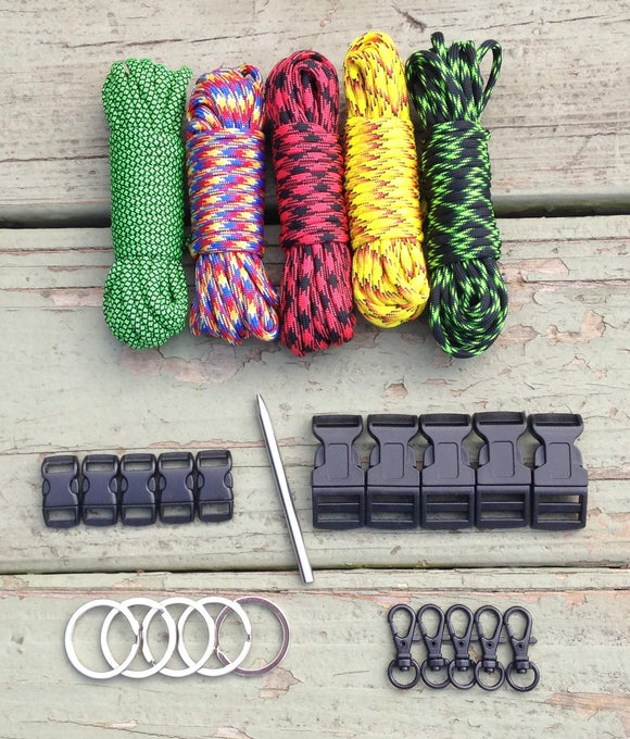 100 ft Multi-Colored Paracord Kit XL+ by Stockstill Outdoor Supply