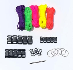 Neon Solids Paracord Kit XXL by Stockstill Outdoor Supply