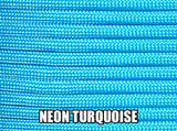 Neon Turquoise Type III 550 Paracord by Stockstill Outdoor Supply