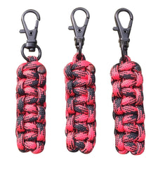 Custom Paracord Zipper Pulls - Black Widow w/Black Swivel Hooks by Stockstill Outdoor