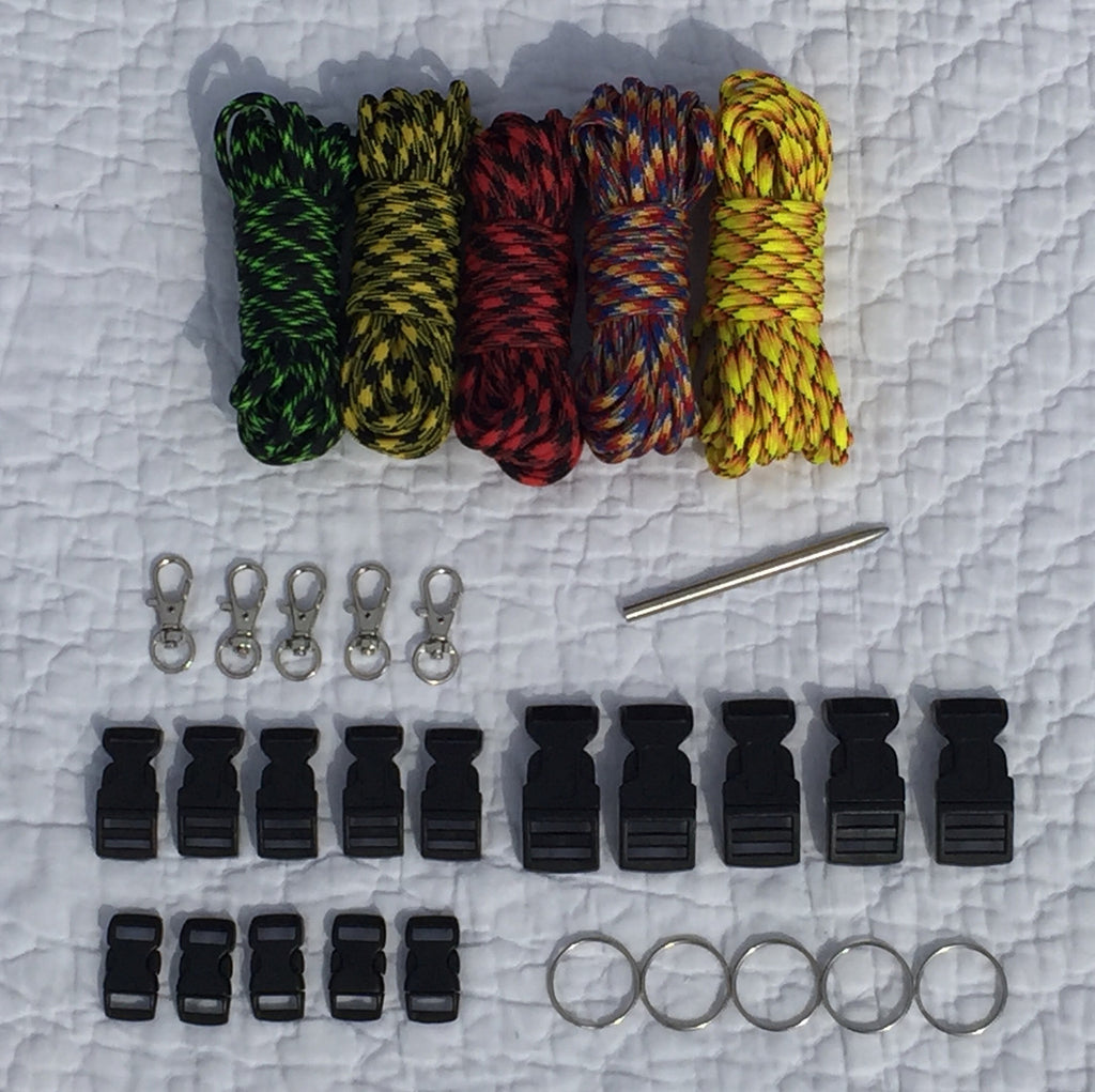 100 ft Patterns Combo Paracord Kit XXL by Stockstill Outdoor Supply