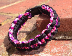Country Girl Camo & Black Paracord Bracelet