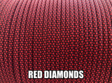 Red Diamonds Type III 550 Paracord by Stockstill Outdoor Supply