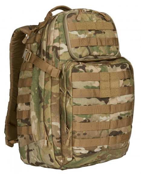 5.11 Rush24 Backpack by Stockstill Outdoor Supply - MultiCam - Side View