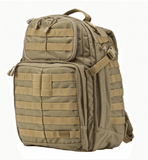 5.11 Rush 24 Backpack by Stockstill Outdoor Supply - Sandstone - Side View